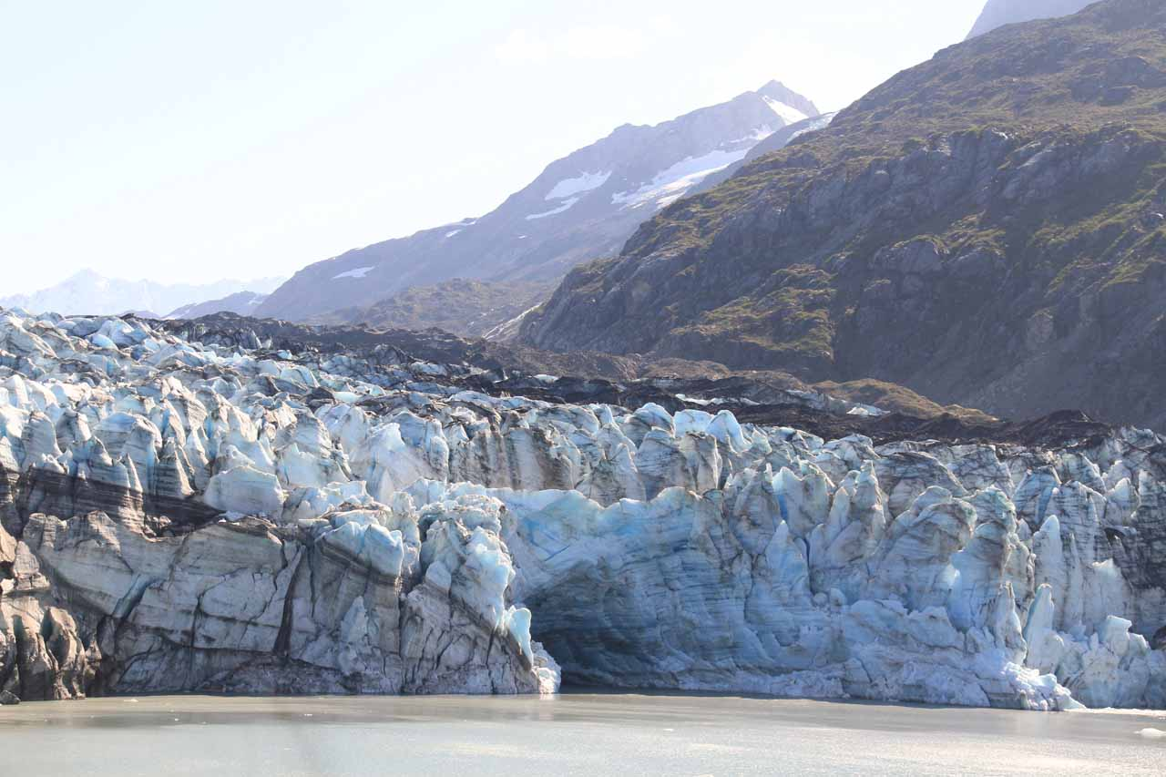 Pretty cool ice tunnel on the face of Lamplugh Glacier