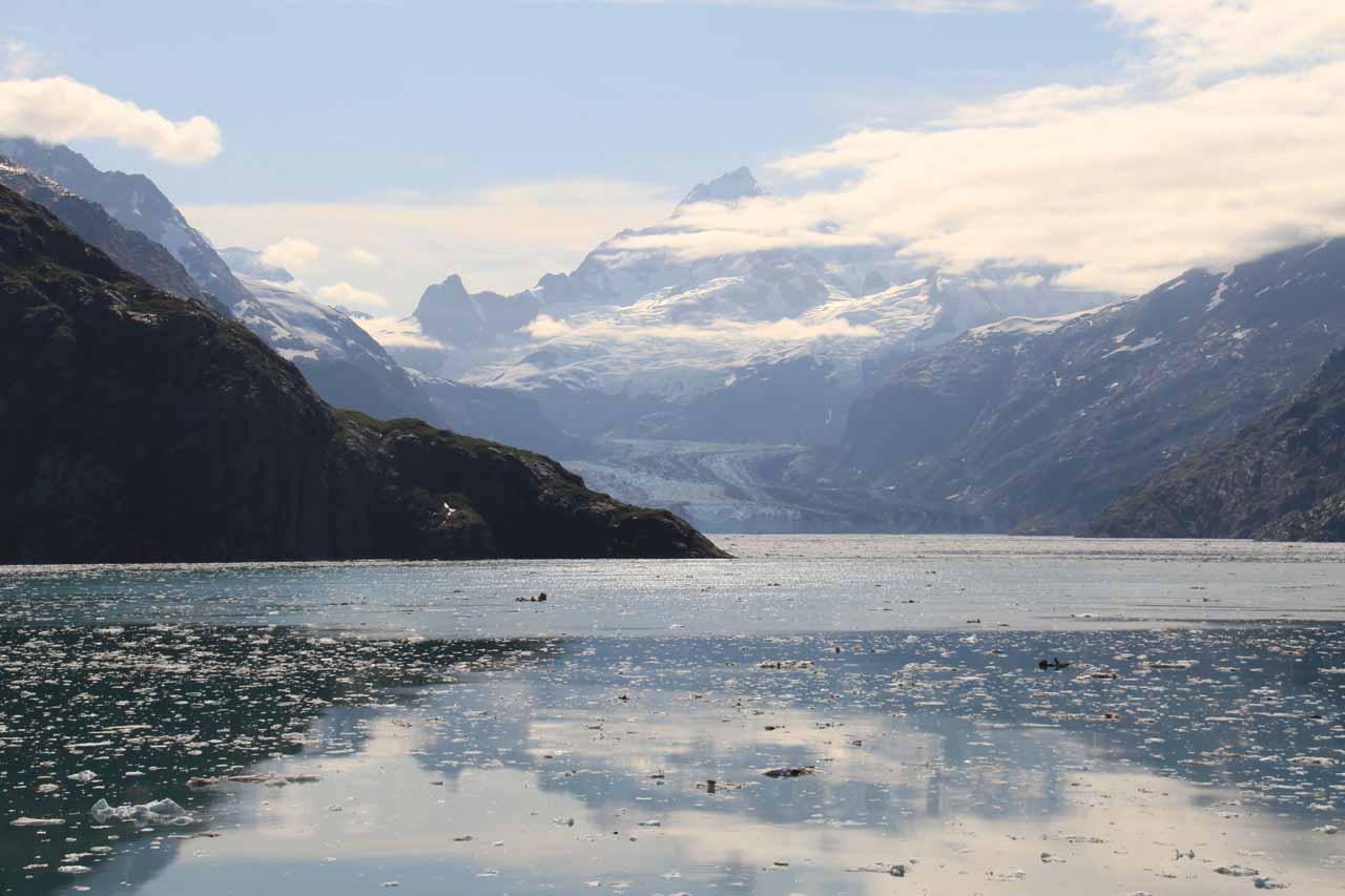 Distant view of the Johns Hopkins Glacier