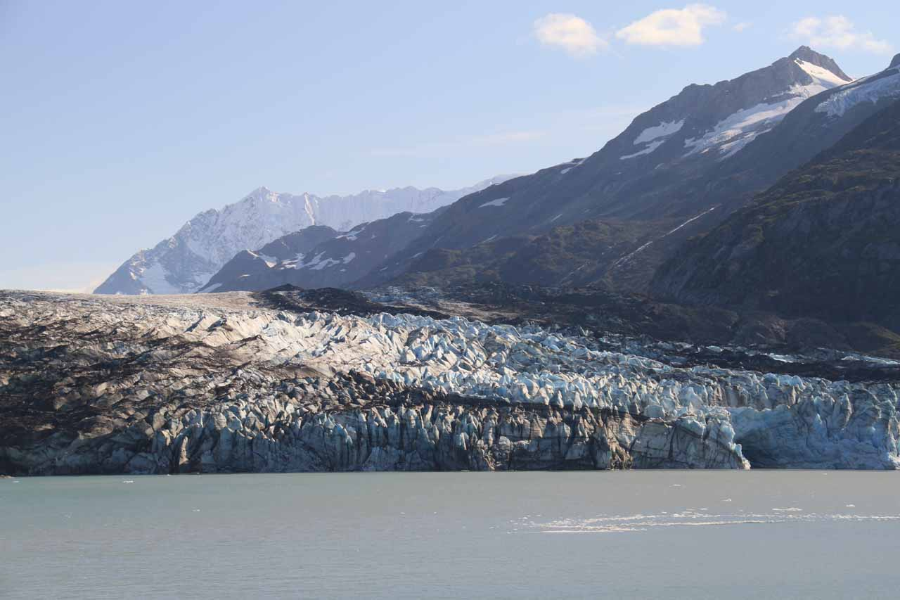 Lamplugh Glacier backed by some mountains
