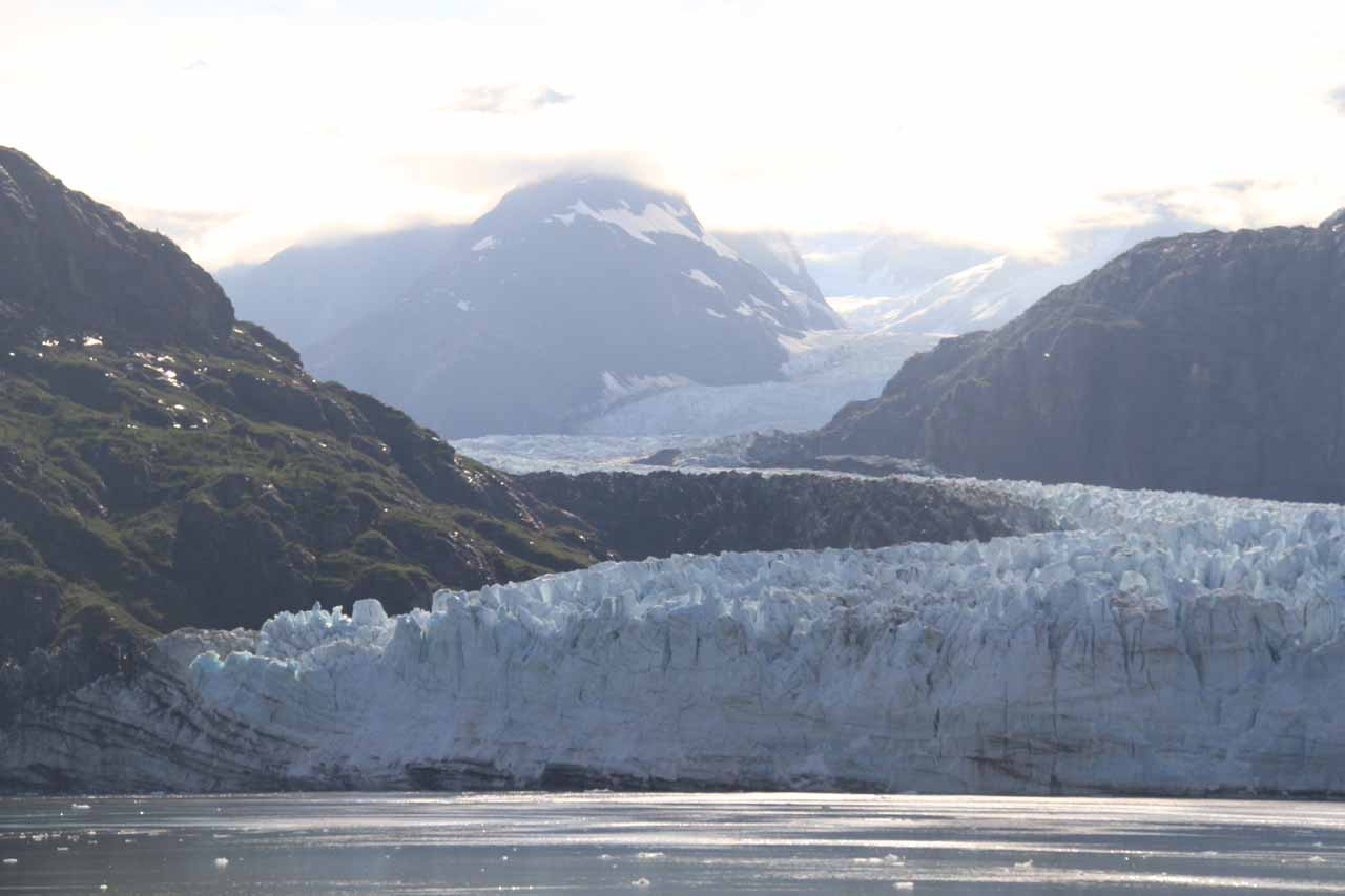 Right in front of the beautiful Marjerie Glacier