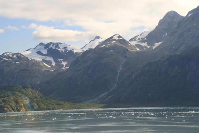 Glacier_Bay_223_08302011 - One of many waterfalls tumbling into Glacier Bay