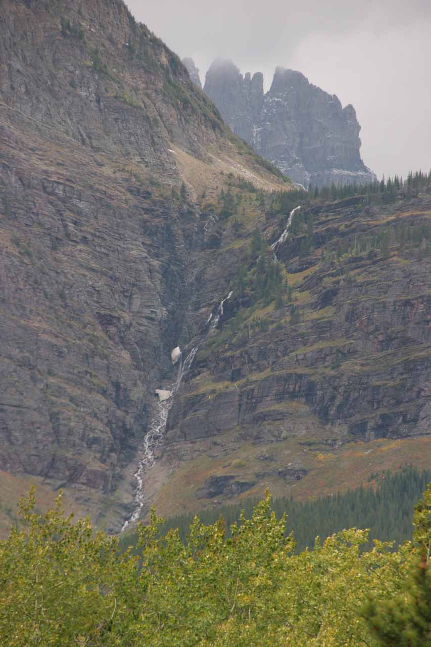 Ptarmigan Falls - one of many waterfalls in Many Glacier Valley