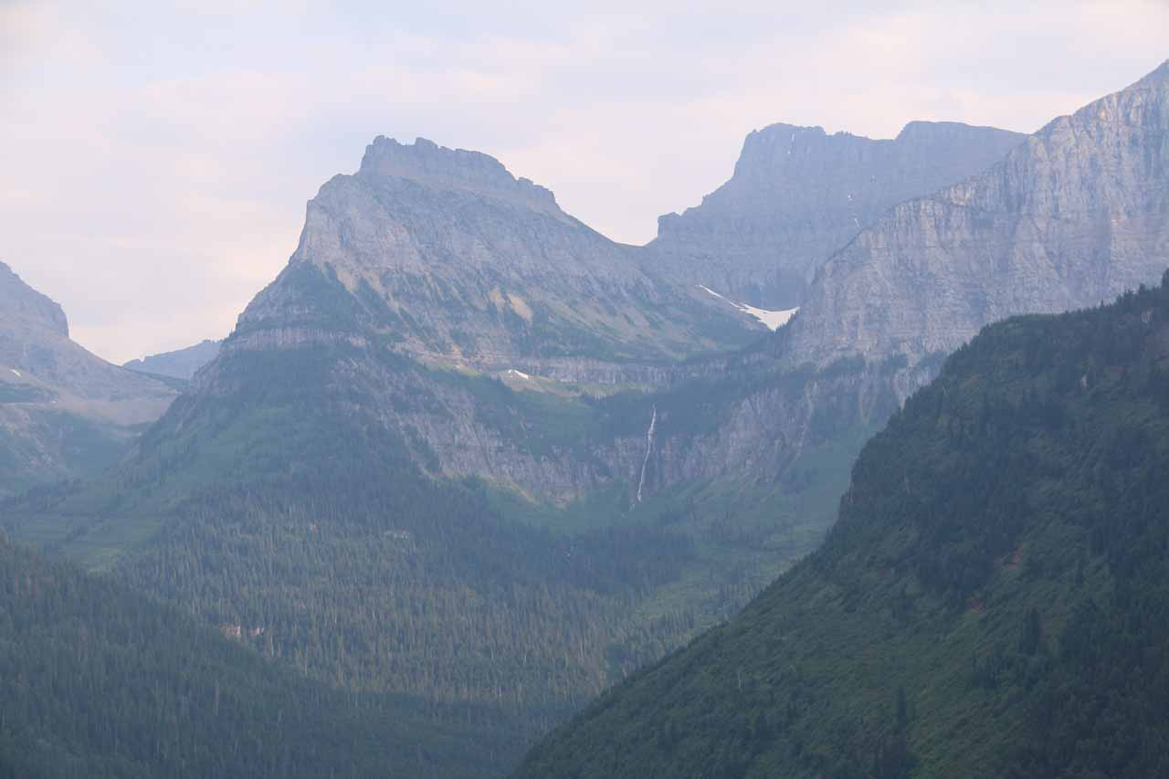This was my westernmost view of the Bird Woman Falls from the Going-to-the-Sun Road