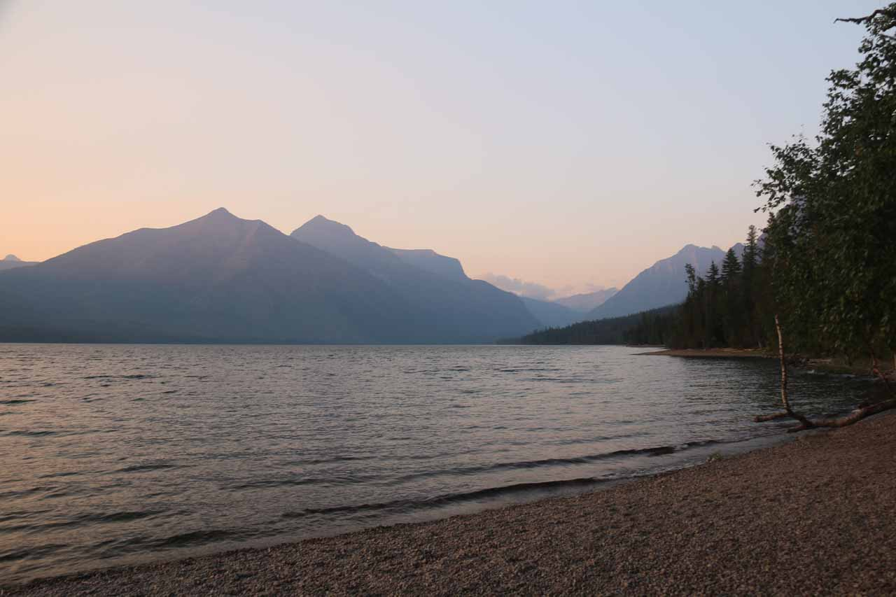 On the west side of the Going-to-the-Sun Road was Lake McDonald, which was a large and serene lake that also surprised me with a sunset viewing opportunity during my second visit here in 2017