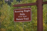 Glacier_NP_317_09242010 - Signage by the Running Eagle Falls Trailhead indicating that we were at the right spot