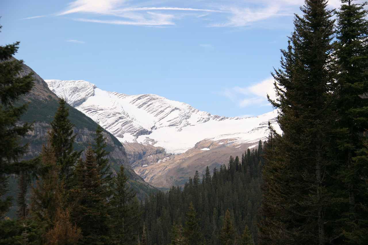 Distant view of Jackson Glacier
