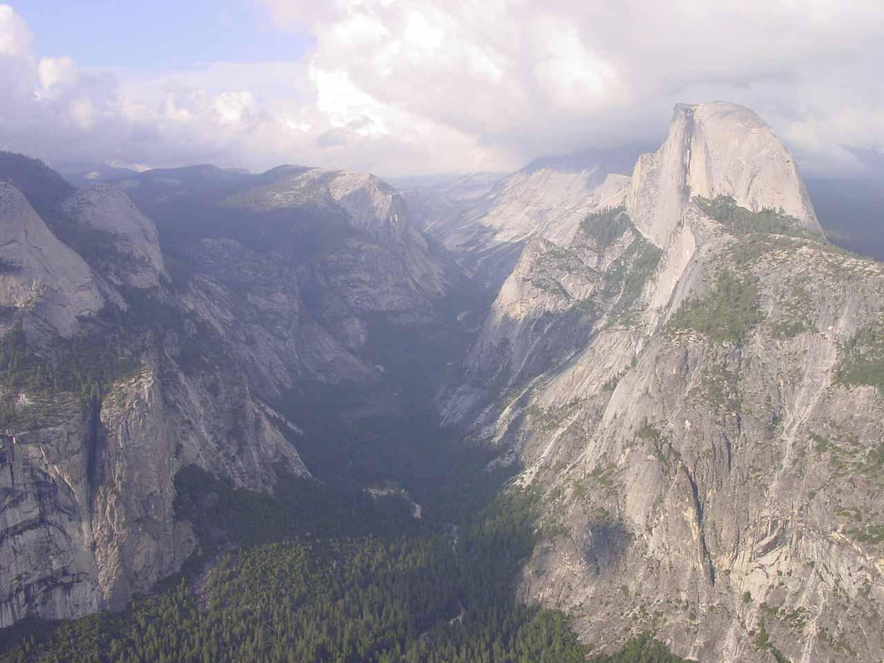 Glacier Point Falls Yosemite National Park California USA