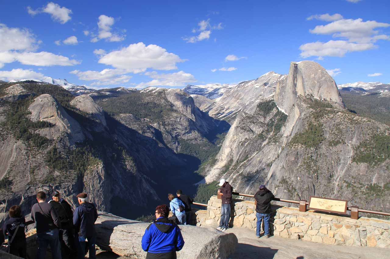 Wawona to Glacier Point was probably about an hour or so drive, but that viewpoint has to be one of the best spots to really get a birdseye view of Yosemite Valley as well as a close look at Half Dome
