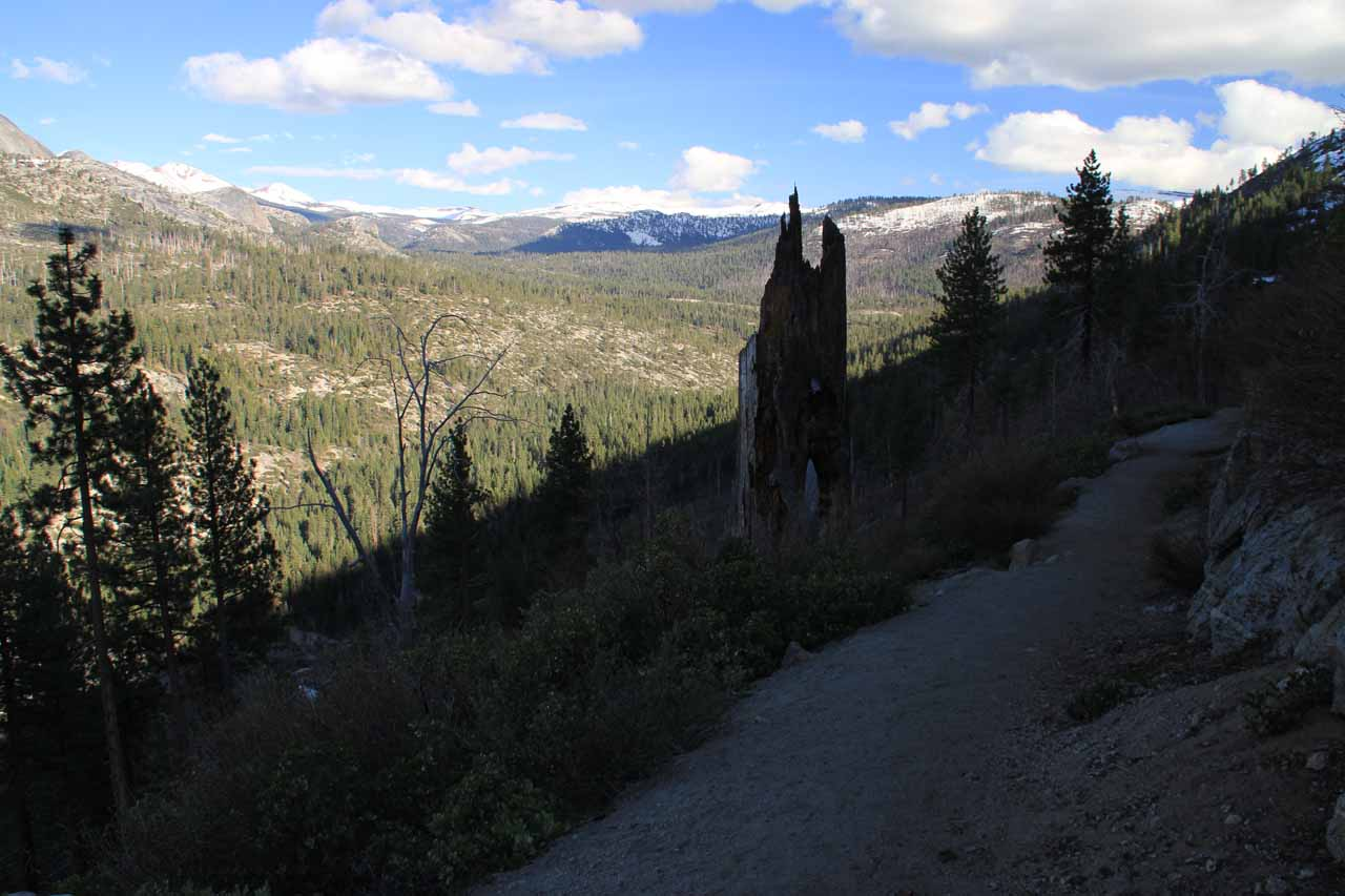 Hiking further along the upper portion of the Panorama Trail