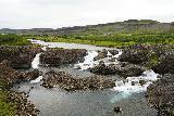 Glanni_022_08182021 - Broad look at the familiar segmented waterfalls of Glanni