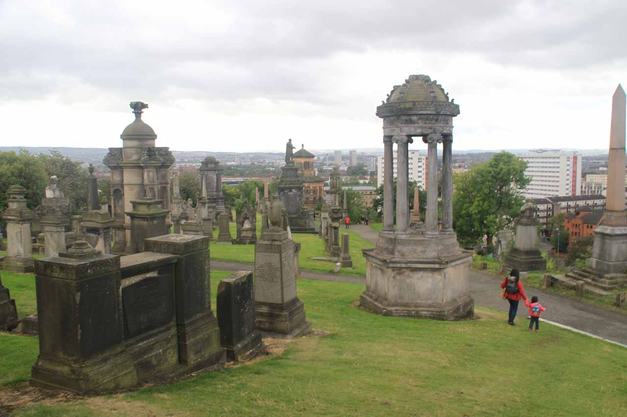 Also within reach of Gray Mare's Tail was the fashionable city of Glasgow with its happening Style Mile as well as the atmospheric Necropolis (shown here)