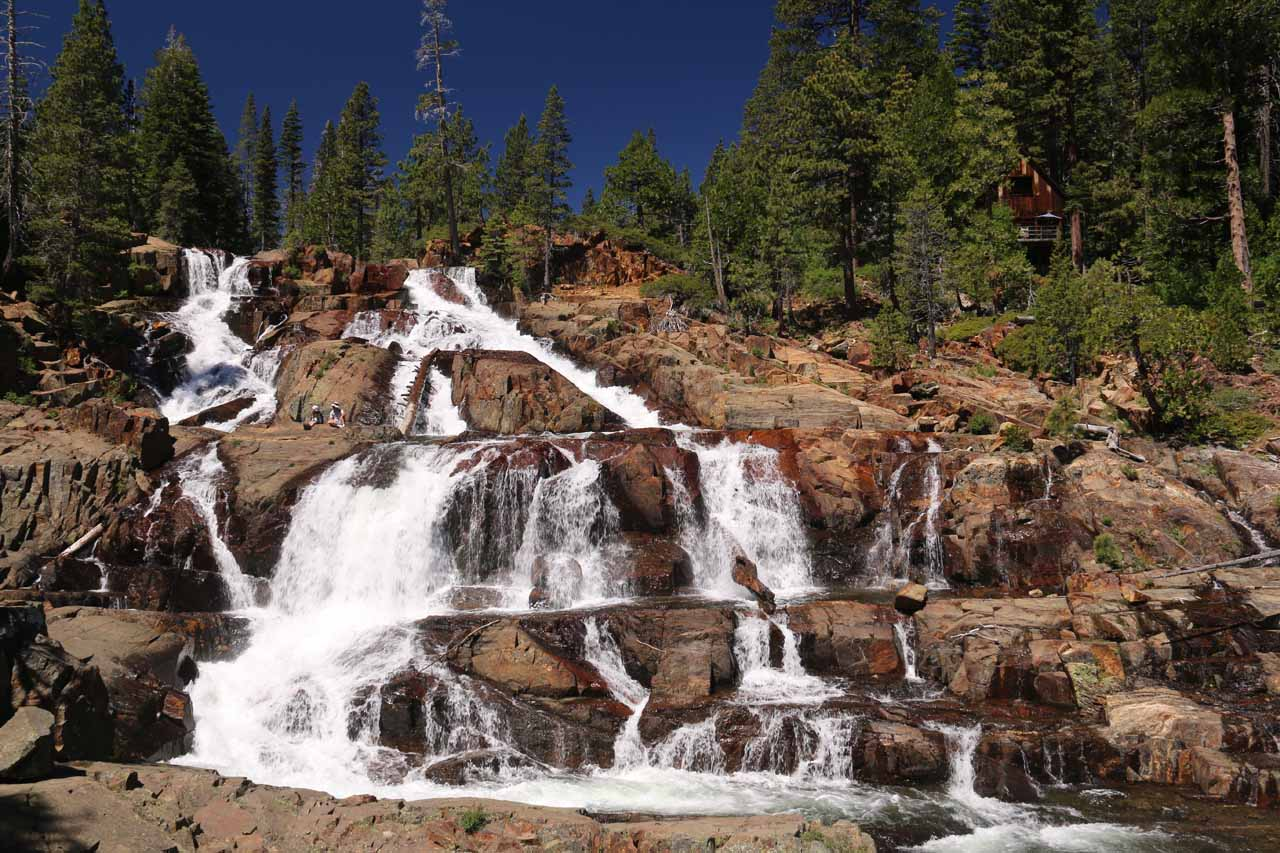 Our first look at the Glen Alpine Falls