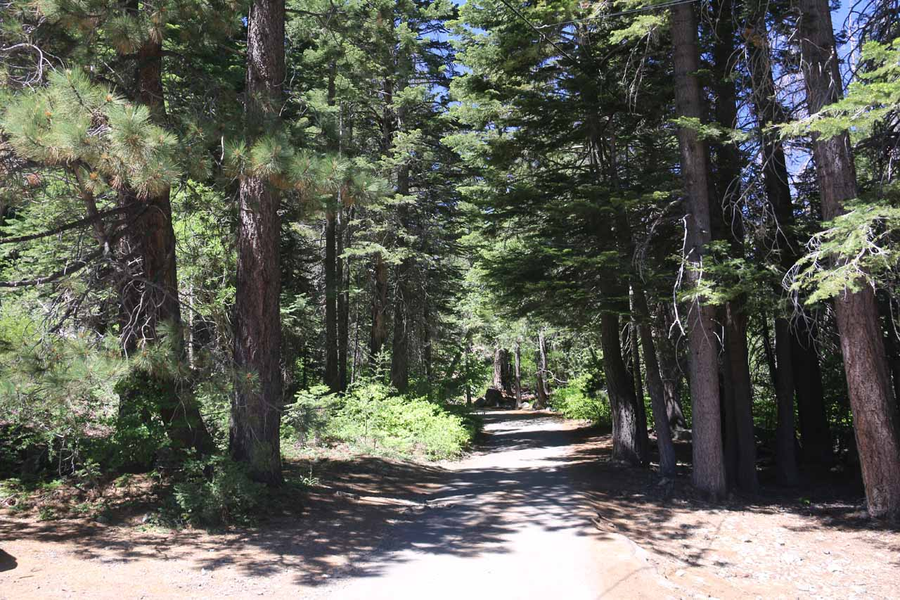 Continuing on the narrow road towards Lily Lake after getting past Glen Alpine Falls