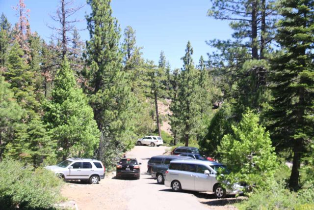Glen_Alpine_Falls_055_06232016 - The parking situation at Glen Alpine Falls can be a bit tight, especially like in this situation where there was barely room for traffic to get by