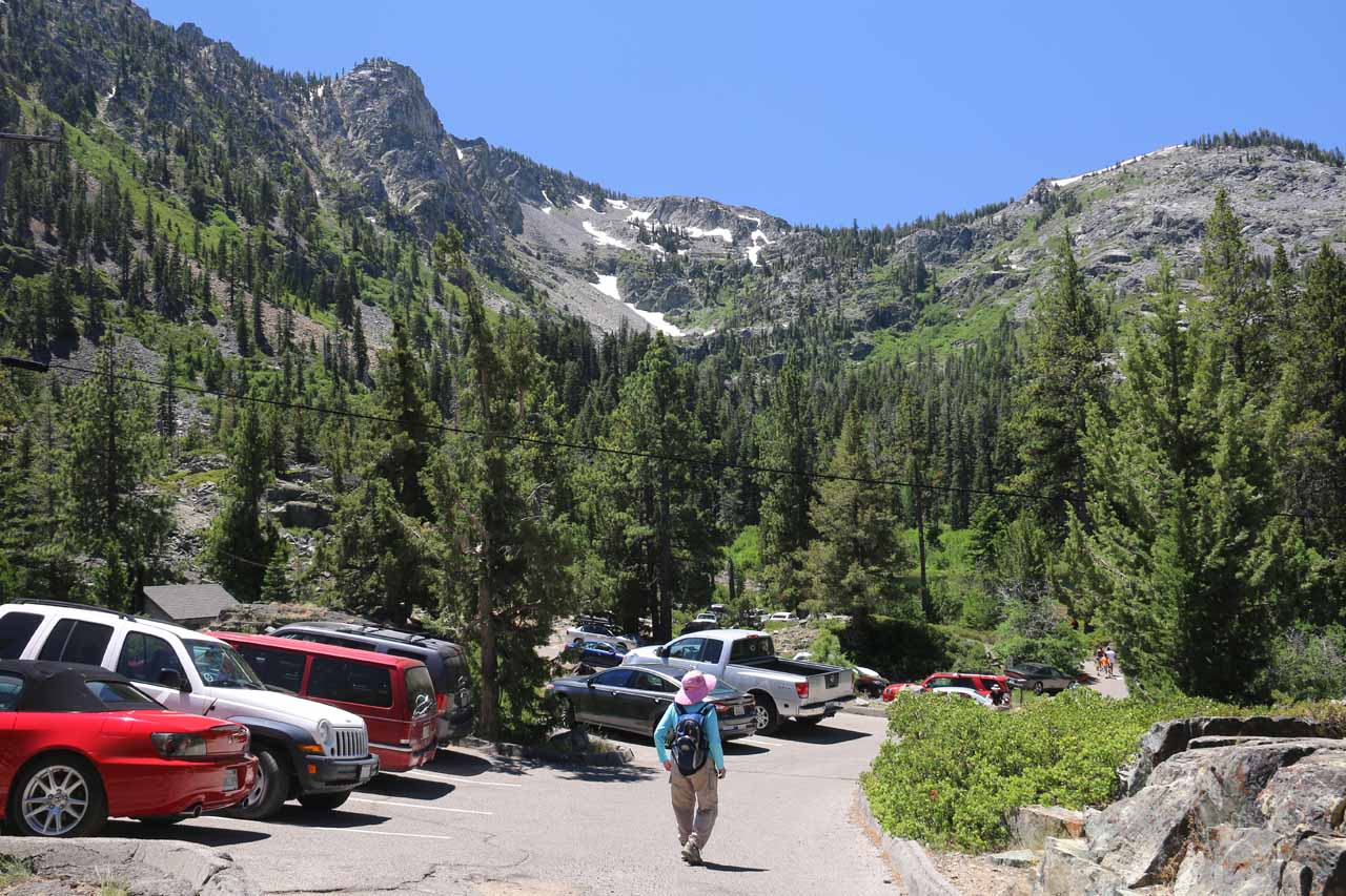 At the parking lot for Lily Lake and the trailhead for Modjeska Falls