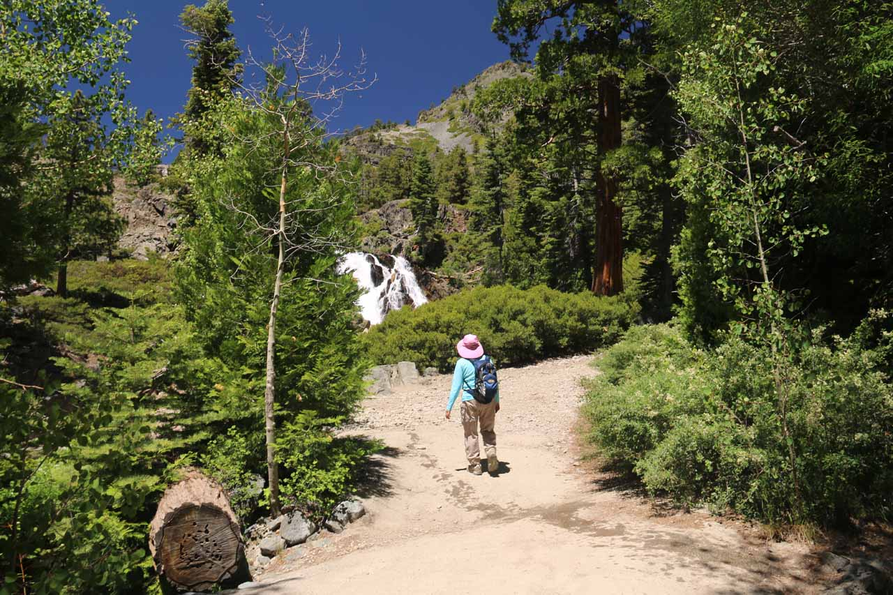 As the trail started to climb, we started to catch glimpses of Modjeska Falls