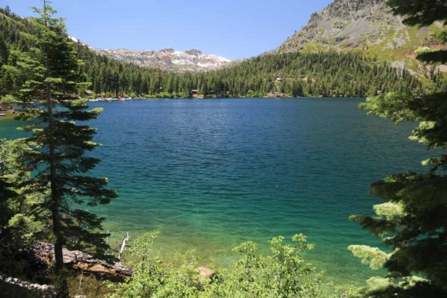 Glen_Alpine_Falls_144_06232016 - On the way to Glen Alpine Falls, we skirted around the scenic Fallen Leaf Lake, which like Cascade Lake, was a detached lake from the greater Lake Tahoe. This lake also featured recreational activites
