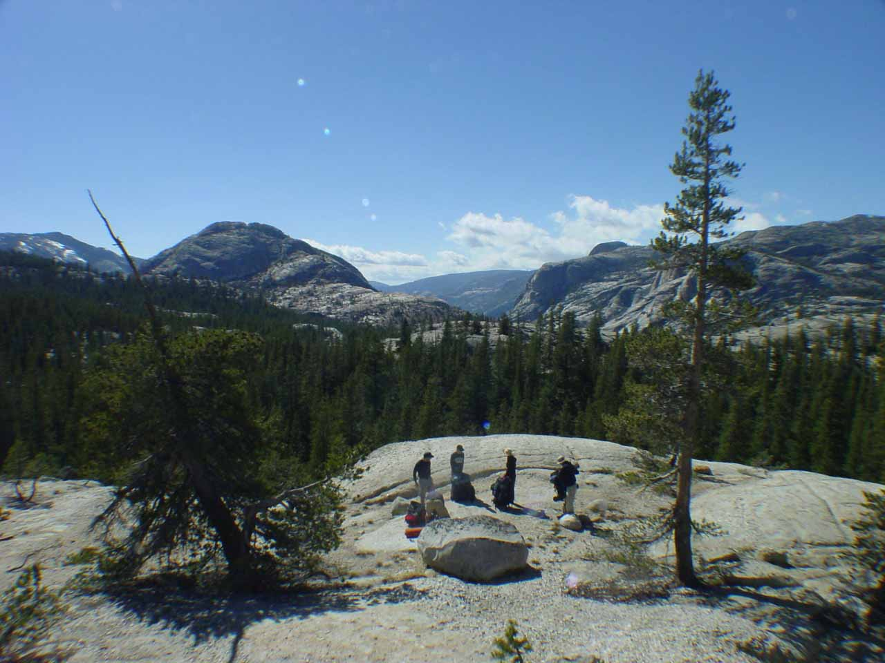 Now the terrain became more granite as we left Tuolumne Meadows
