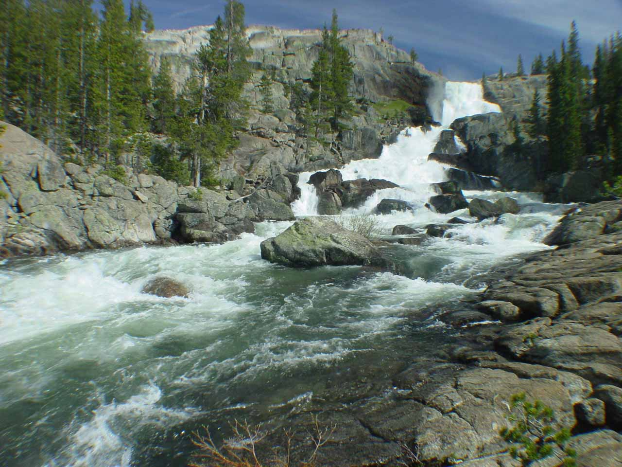 Looking up towards Tuolumne Falls from further downstream