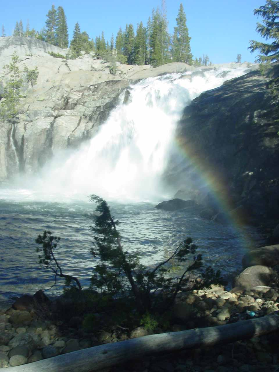 Back at White Cascade with afternoon rainbow