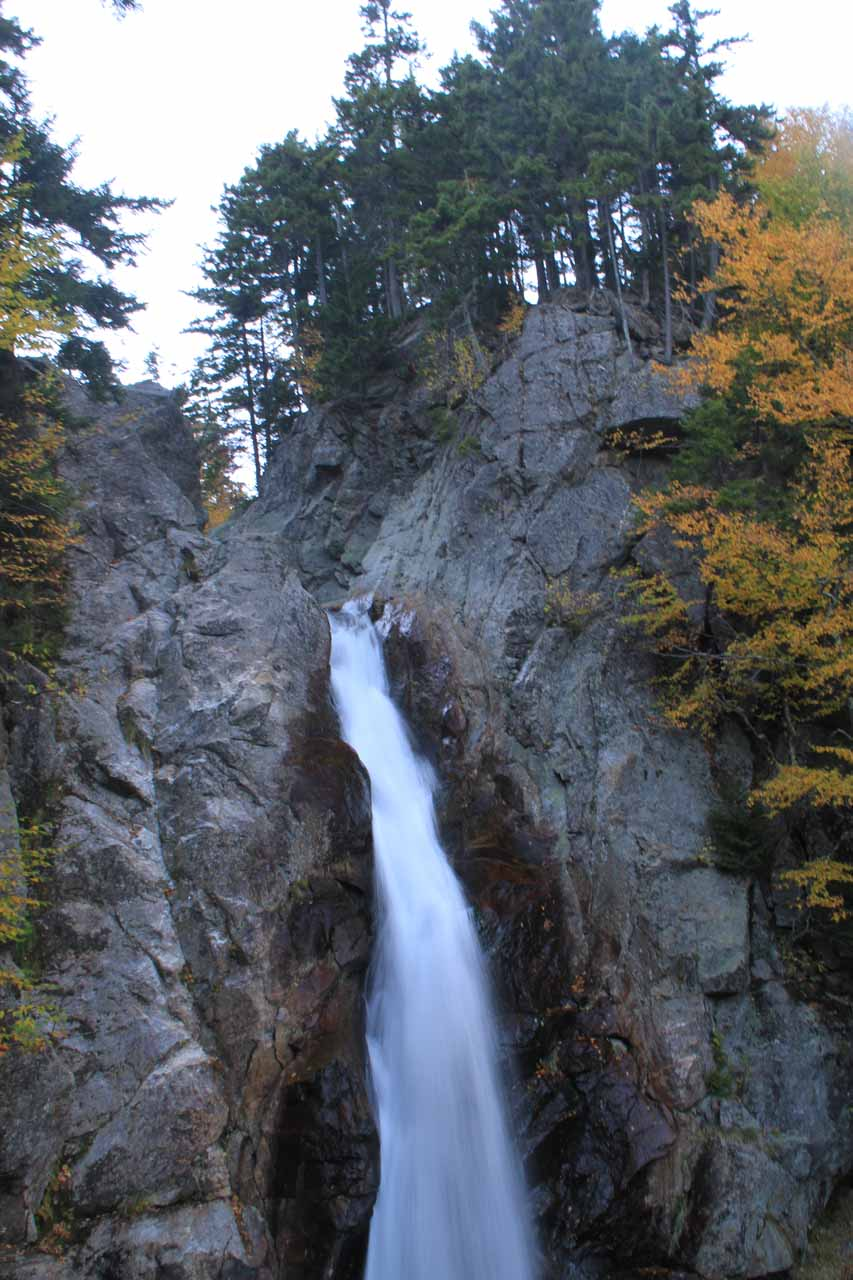 Partial view of Glen Ellis Falls from the middle overlook