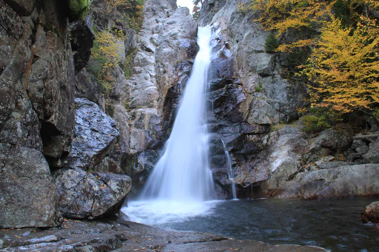 Looking right at Glen Ellis Falls from its base