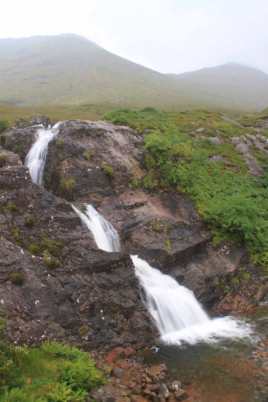 A more contextual view of the Falls of Glencoe at the head of Glencoe Valley