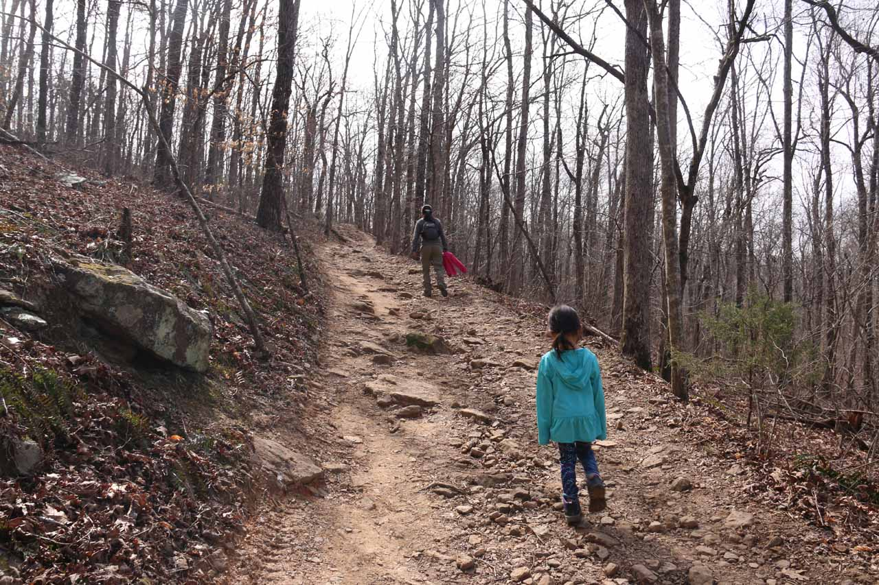As expected, the uphill climb was slightly more difficult than on the way down so Tahia wasn't up for leading the pack
