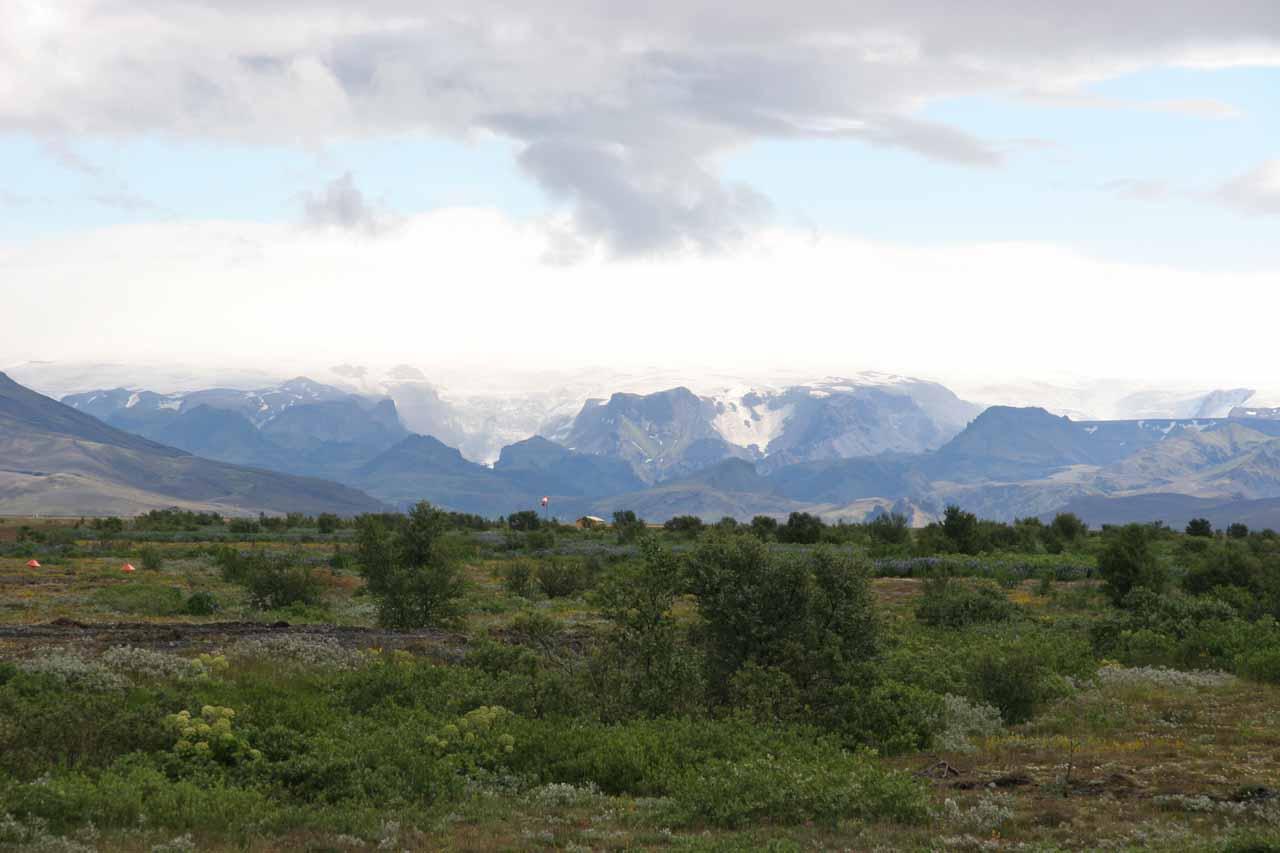 Looking towards Þórsmörk