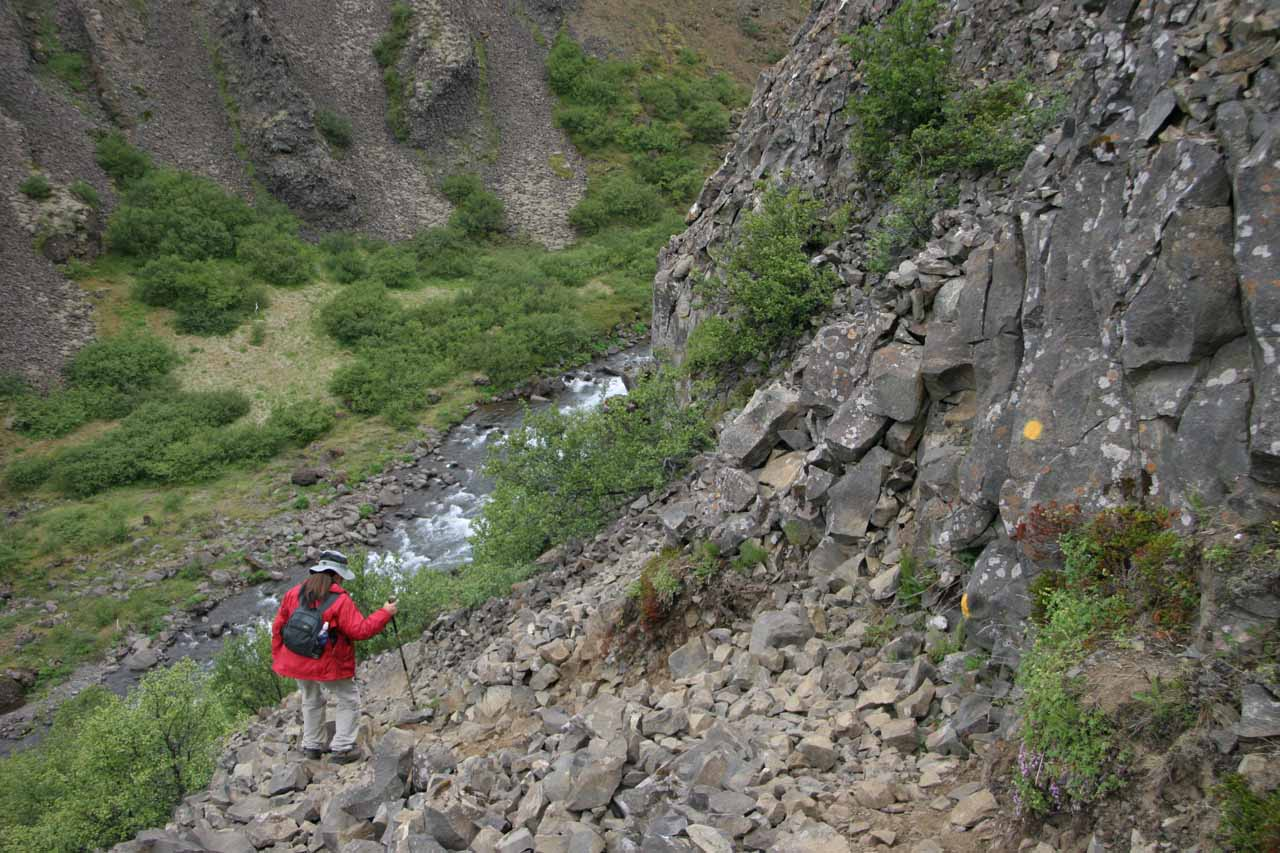 The drama wasn't over on this hike as we still had to negotiate the steep scree section