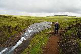 Glymur_248_08052021 - Mom hiking beyond Glymur as we were approaching a calm part of Botnsa
