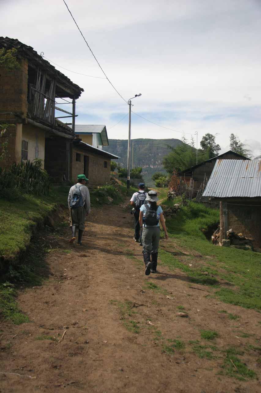 Going through the town of San Pablo