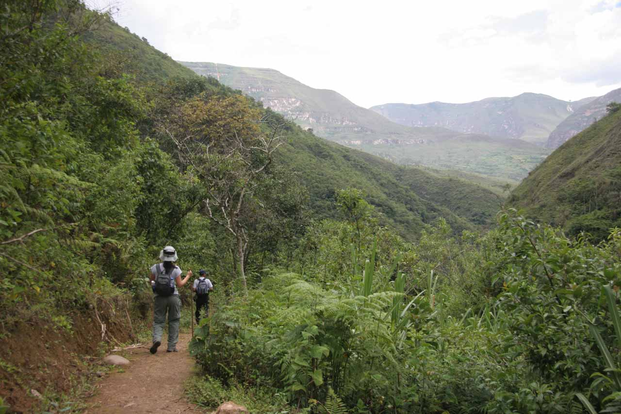 The arduous return hike to Cocachimba