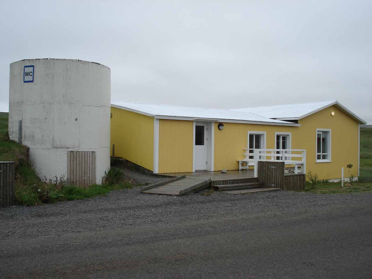 A house by the east bank car park with a water closet (WC)