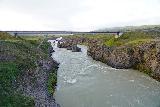 Godafoss_059_08132021 - Looking downstream from the footbridge over Skalfandafljot towards the Ring Road's bridge