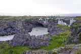 Godafoss_076_08132021 - Looking downstream of Geitafoss towards the footbridge spanning the Skalfandafljot