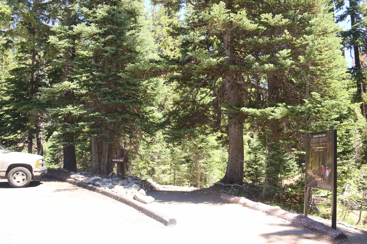 This was the trailhead for the Godfrey Glen Trail