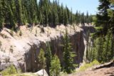 Godfrey_Glen_008_07152016 - Looking towards some interesting ash cliffs that were said to be from pyroclastic flows of the past, and somewhere down in the steep gorge was Duwee Falls
