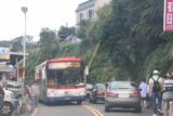 Gold_Museum_007_11042016 - Trying to squeeze through the Saturday traffic near the Jiufen Laojie area.  Good thing we visited this area two days ago when it wasn't as crazy