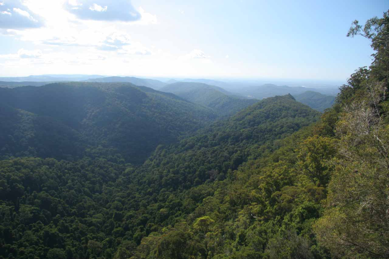 Panorama from Goomoolahra Falls