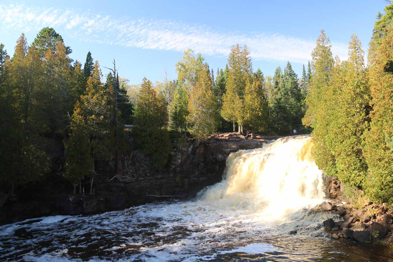 Our first look at the Upper Gooseberry Falls