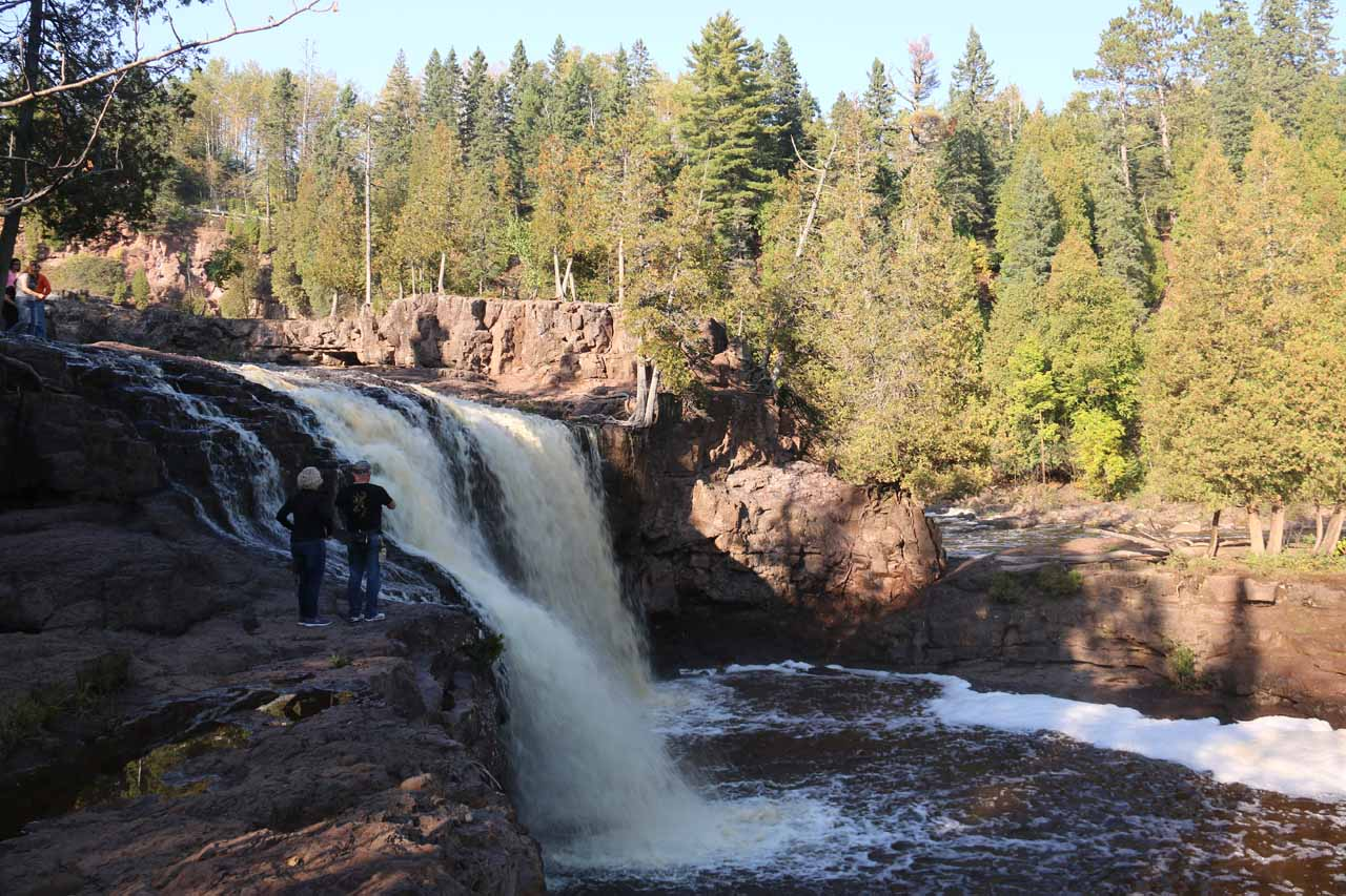 Looking across the Lower Gooseberry Falls (or at least part of it)