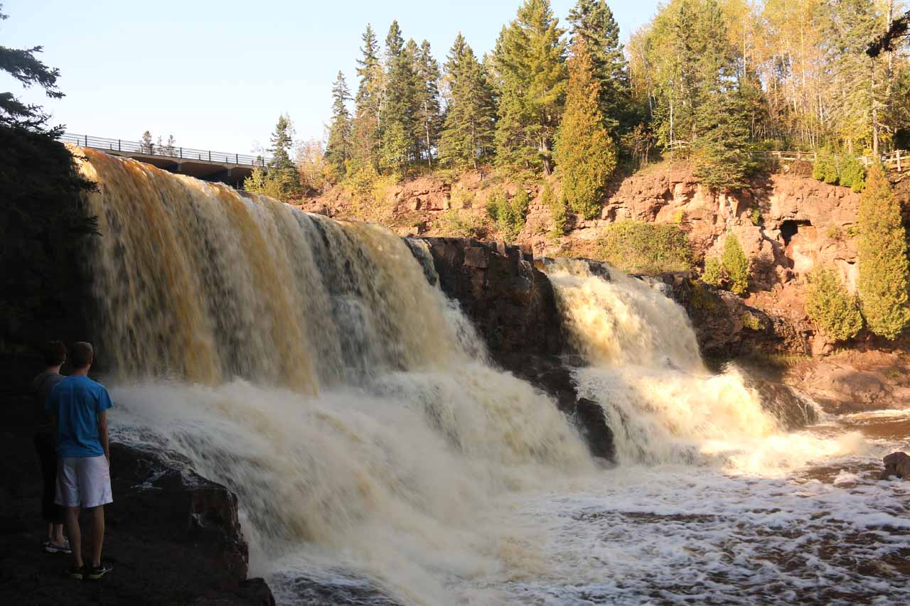 Profile view of the Middle Gooseberry Falls