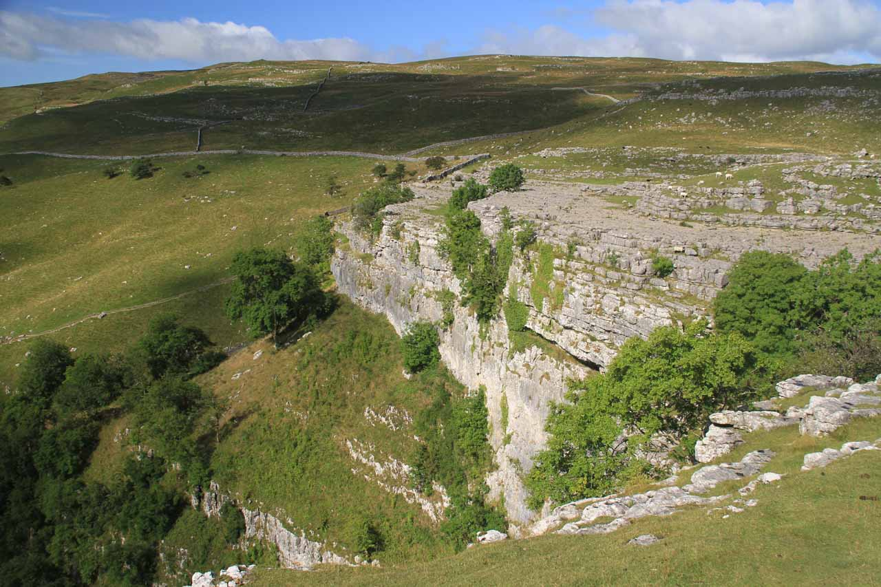Looking back at the Malham Cove