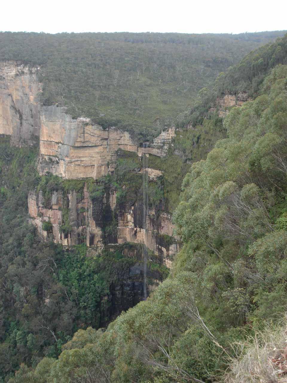 Focused on the Bridal Veil Falls or Govett's Leap