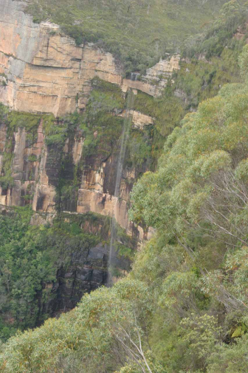 Closer look at Bridal Veil Falls at Govett's Leap