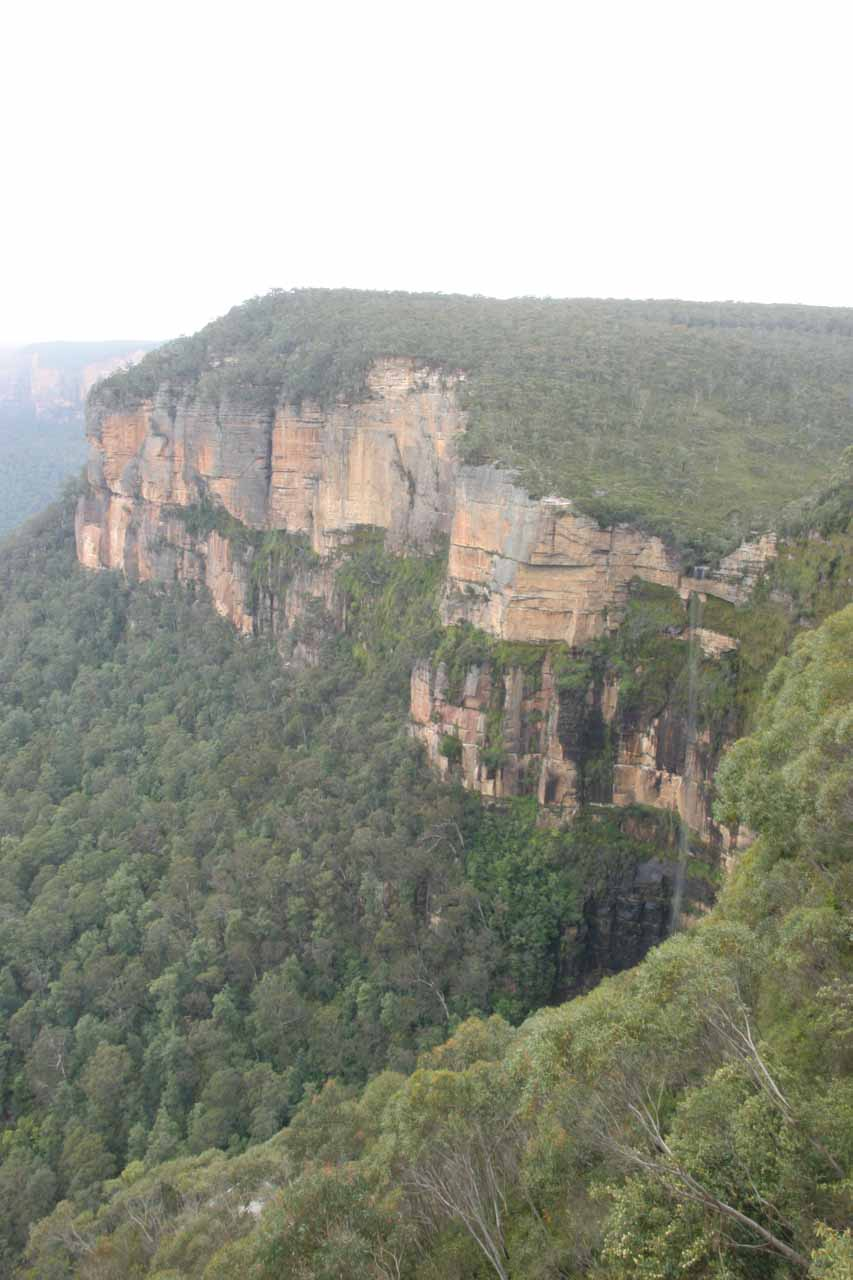 Another contextual view focused on Bridal Veil Falls at Govett's Leap