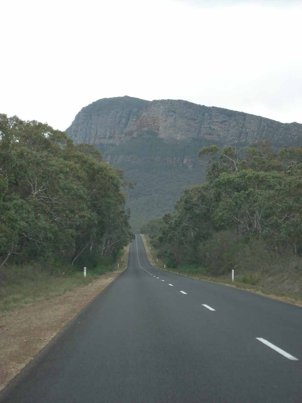 Driving the Grampians Road as we were leaving the park