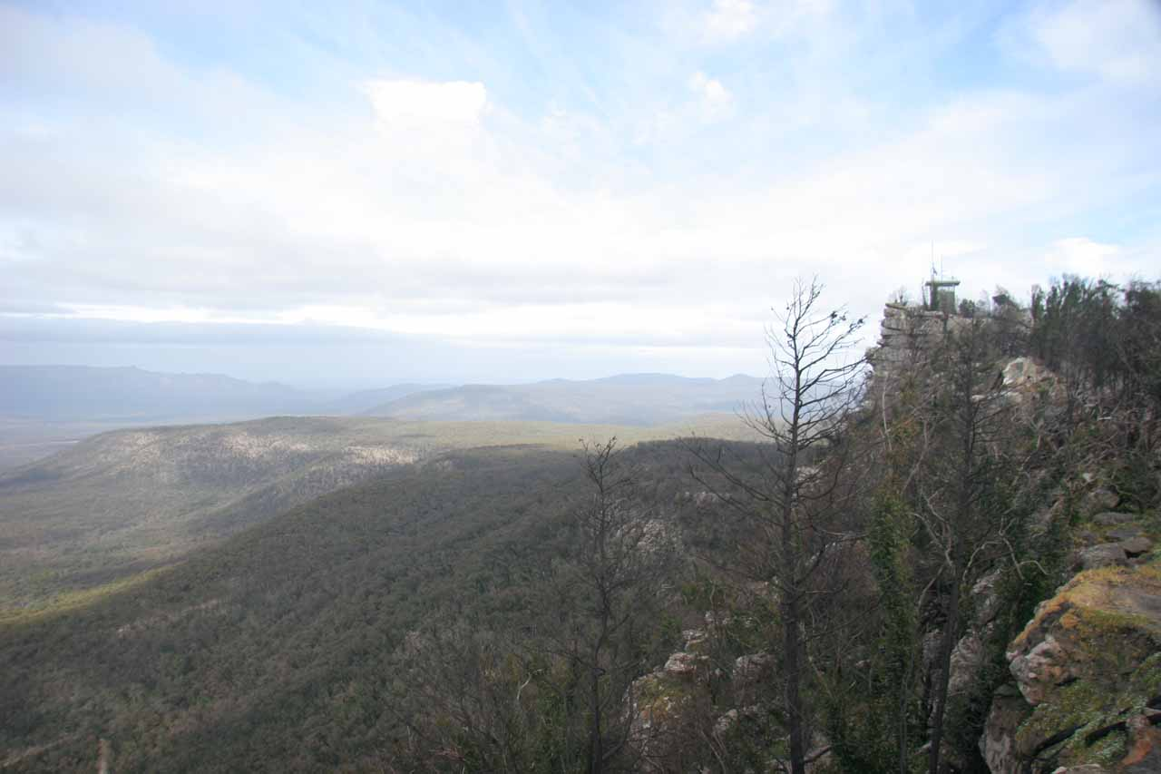 Looking to the right from Reid's Lookout
