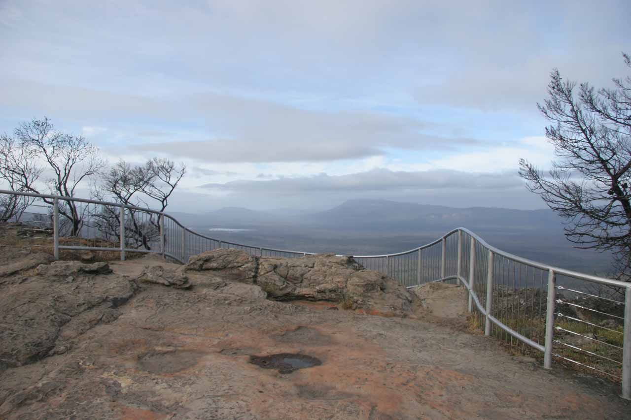 While making our way south to Silverband Falls from Mackenzie Falls, we stopped at this overlook that looked southwards at the wide expanse of the Grampians National Park